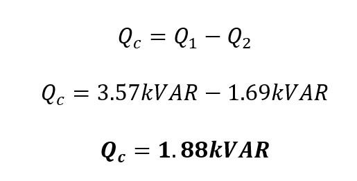 Calculo de la potencia reactiva en un capacitor
