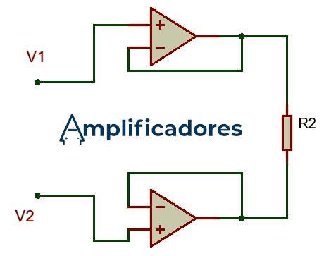 Primera etapa de amplificación del amplificador de instrumentación