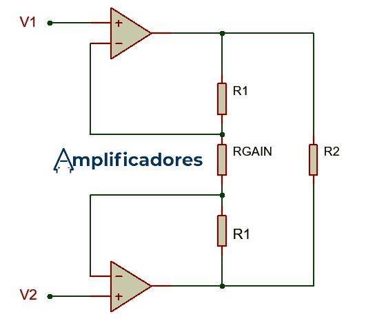 Primera etapa de amplificación y ganancia del amp op de instrumentación
