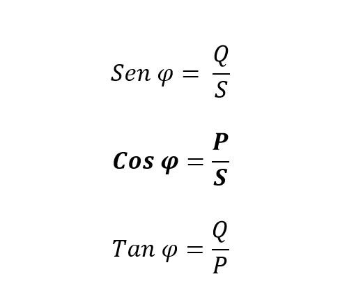 Razones trigonométricas de las potencias en el calculo del factor de potencia