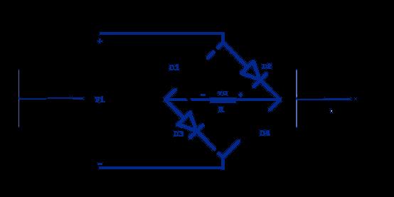 Rectificador de puente media ciclo positivo