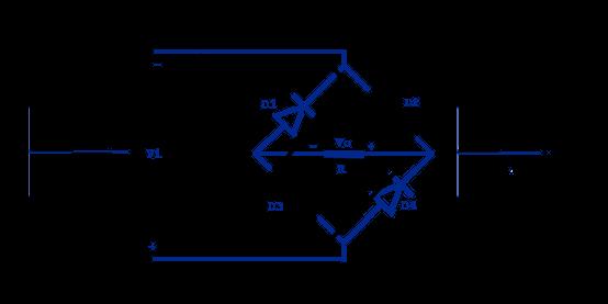 Rectificador de puente medio ciclo negativo