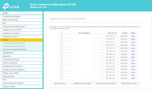 ¿Cómo reservar y establecer una IP fija a un dispositivo con el modem Archer C50?