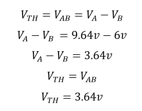 Voltaje equivalente Thevenin Total