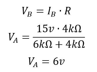 Voltaje equivalente Thevenin B