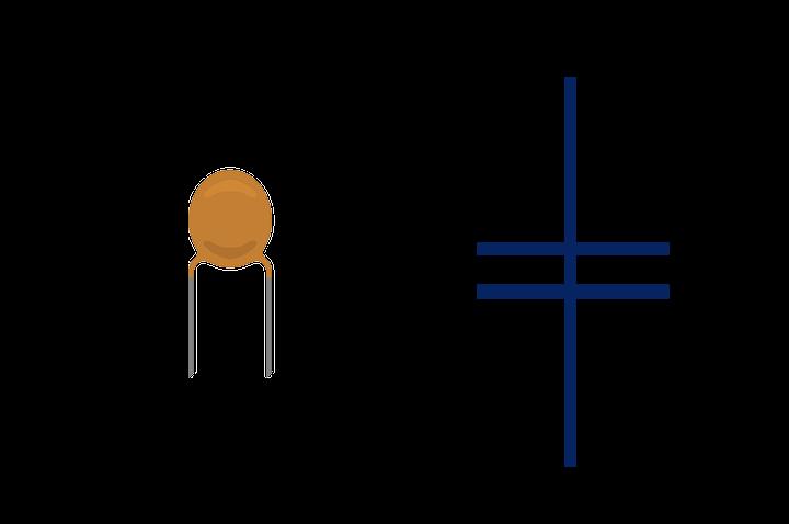 Símbolo del capacitor cerámico