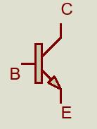 Símbolo de un transistor.