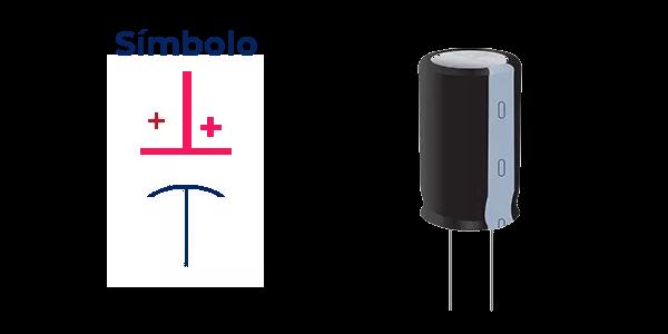Símbolo de un capacitor o codensador