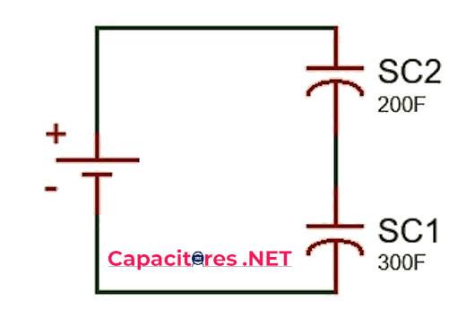 Conexión de supercapacitores en serie