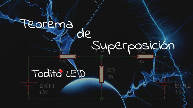 Teorema de superposición, análisis de circuitos y ejercicios resueltos.