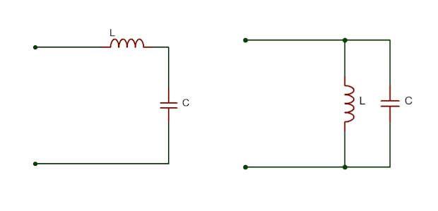 Tipos de circuito LC resonante, en serie y paralelo