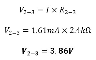 Obteniendo voltaje punto 2 a 3