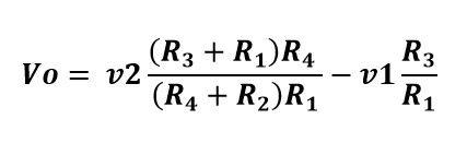 Formula de voltaje de salida del amp op restador