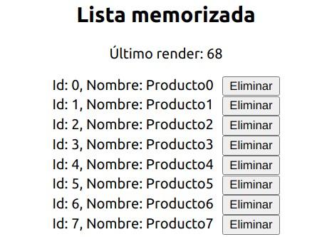 Salida HTML del componente List