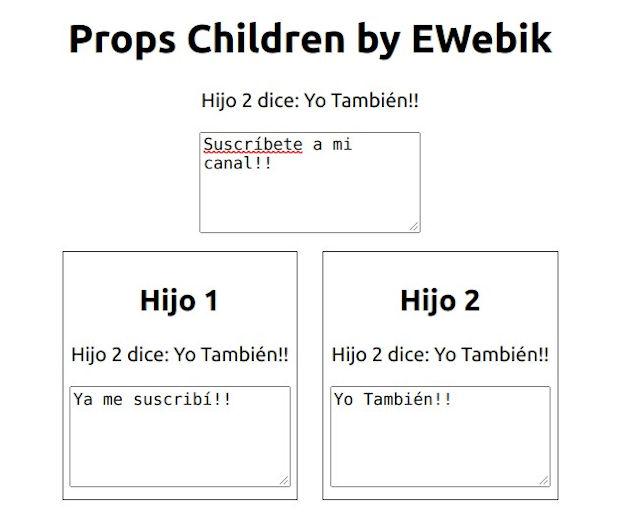 Formulario ejemplo del uso de las Children en React
