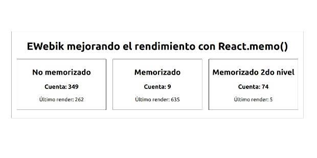 Ejemplo de como utilizar React.memo()