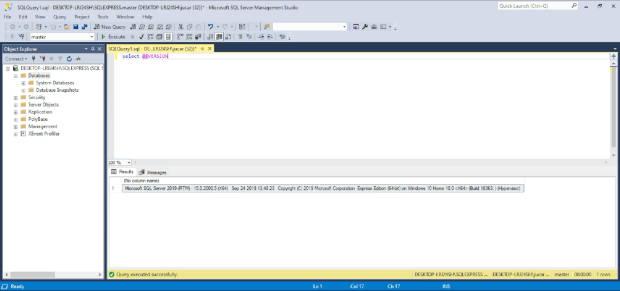 Interfaz de Microsoft Management Studio