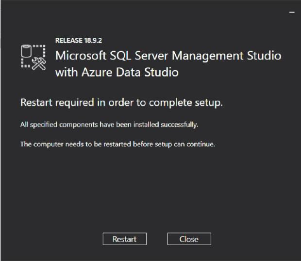 Instalación de Microsoft SQL Server Management Studio