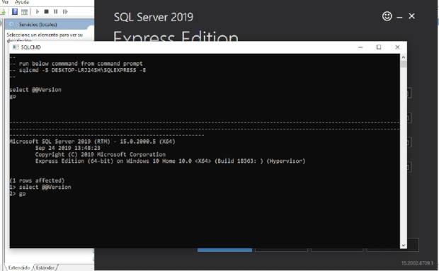 Probar conexión a SQL Server Express 2019