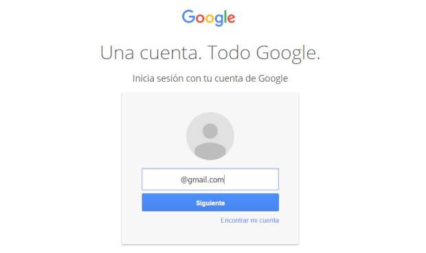 Ventana de autorización de cuentas de Google